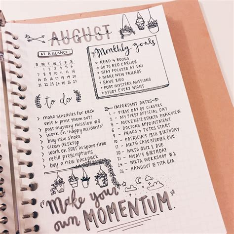 bullet journal exles bullet journal monthly spread ideas and inspiration