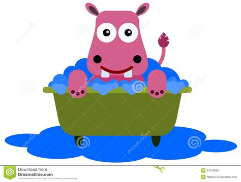 Hippo In Bathtub by Hippo In A Tub Royalty Free Stock Images Image 31018069