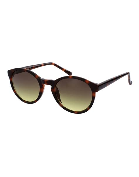 Keyhole Sunglasses by Asos Asos Brown Keyhole Lens Sunglasses In Brown For