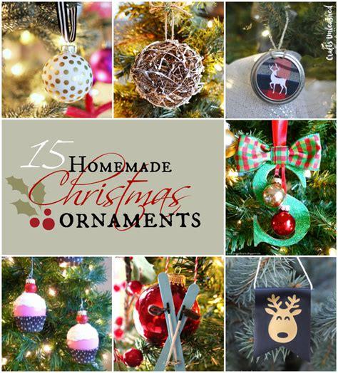 Handmade Ornaments Ideas - ornaments 15 diy projects