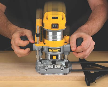 routers for woodworking dewalt launches new compact router fixed plunge base