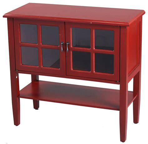 Console Cabinet With Glass Doors 2 Door Cabinet With Glass Insert Farmhouse Console Tables By Creations