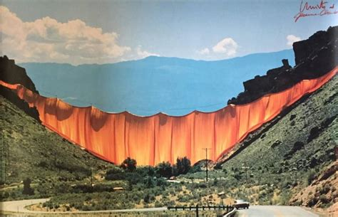 the valley curtain javacheff christo valley curtain photograph for sale