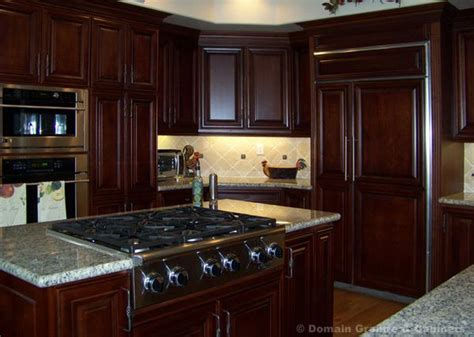 mahogany kitchen designs pictures of kitchens with maghoney stained cabinets