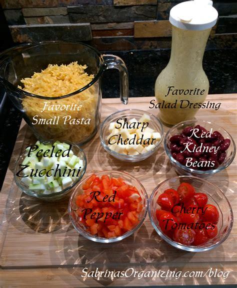 pasta salad ingredients and easy pasta salad