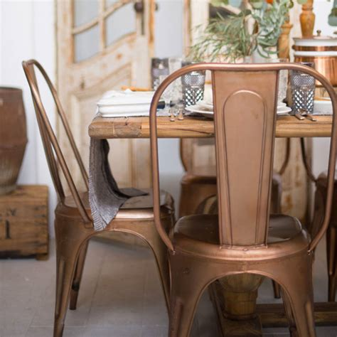 copper or brass industrial dining chair by ciel