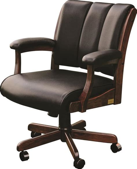 Amish Desk Chair by Amish Edelweiss Desk Chair With Arms