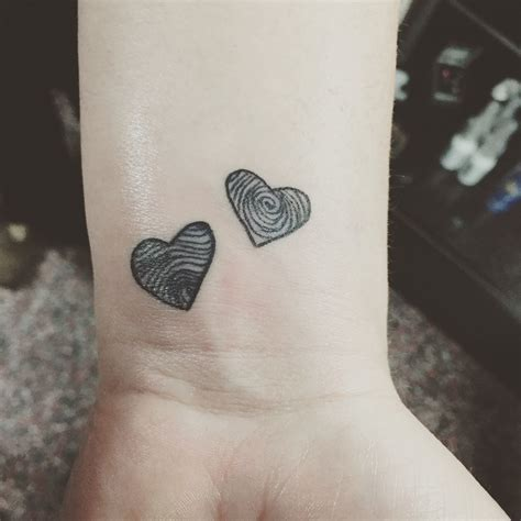 heart fingerprint tattoo black fingerprint tattoos in with my wrist