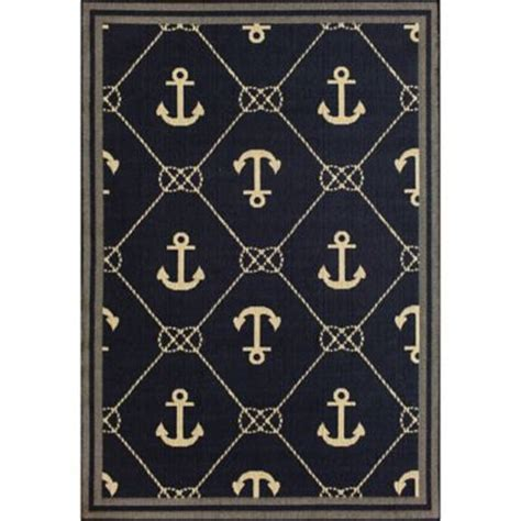 anchor area rug buy nautical rugs from bed bath beyond