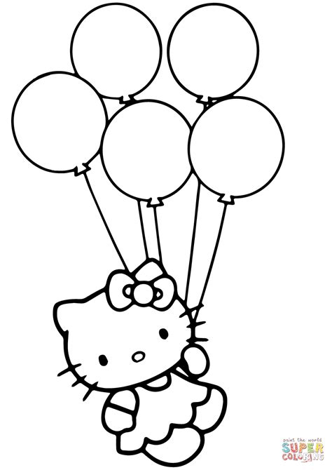 balloon coloring pages balloons bunch png black and white transparent balloons