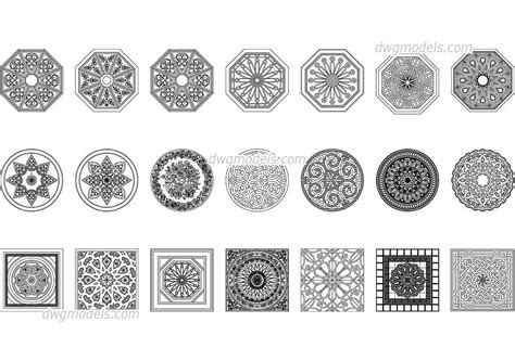 islamic pattern free dwg arabic pattern cad blocks free dwg file cad blocks