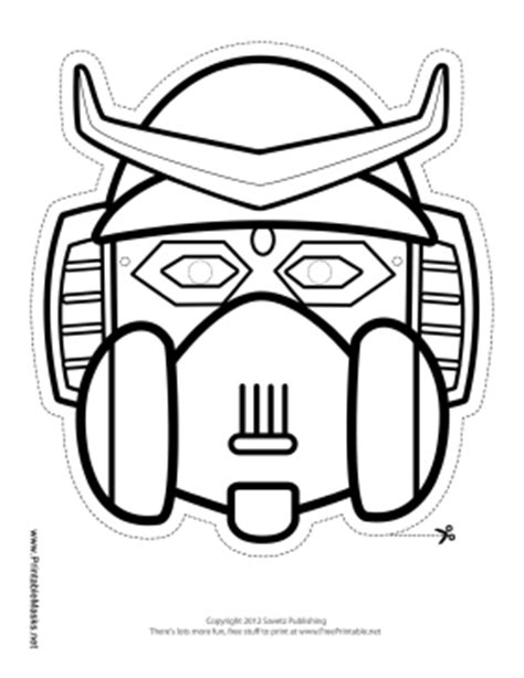 printable robot mask printable robot with horns mask to color mask