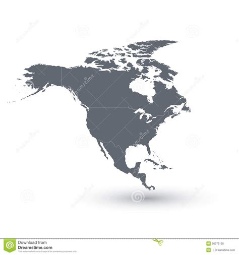 vector map america america map vector illustration stock illustration