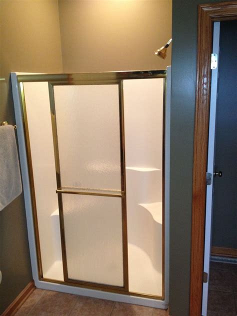 Fiberglass Shower Door Shower Remodel Using Waterproof Wedi Shower System Glass Blocks Cleveland Columbus