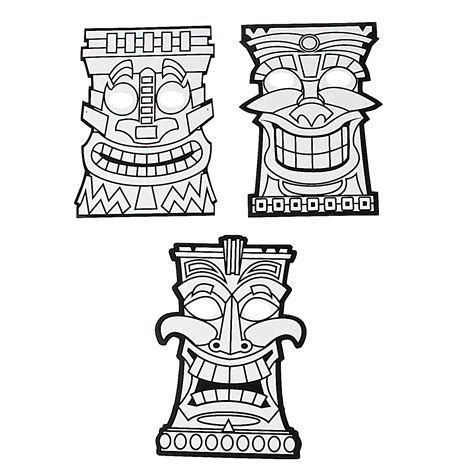 color your own tiki masks oriental trading