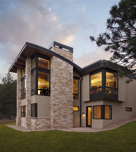 5 Bedroom 4 Bathroom House Plans by Pine Brook Boulder Mountain Residence Exterior Modern