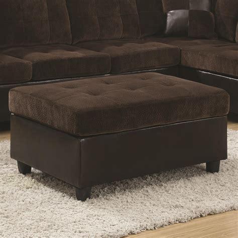 value city furniture ottoman coaster mallory casual and contemporary ottoman value