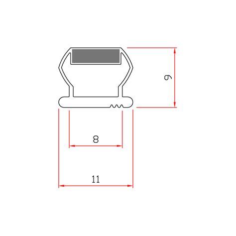 guarnizioni doccia gomma guarnizione magnetica box doccia in gomma ec mag 13