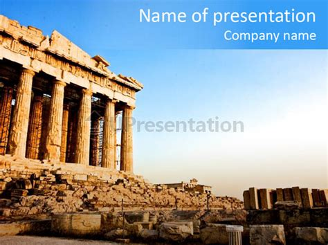 greece history powerpoint template id 0000010709