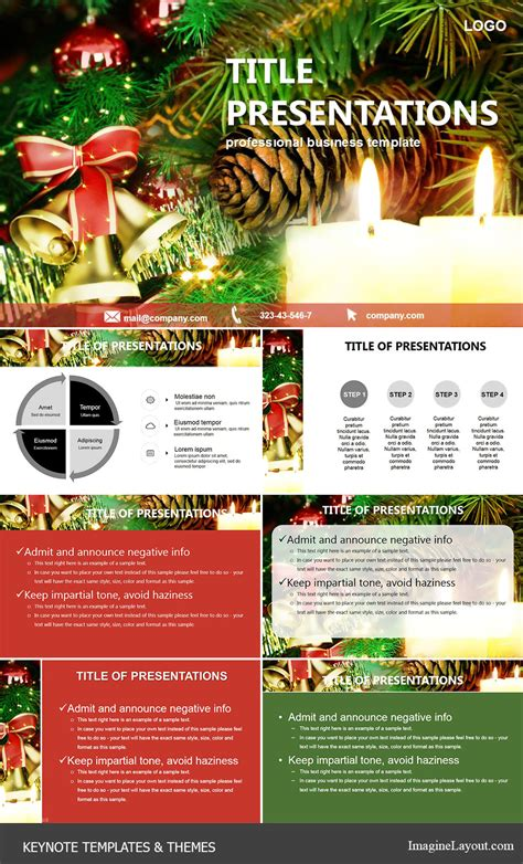 keynote themes christmas christmas bells candles keynote templates imaginelayout com