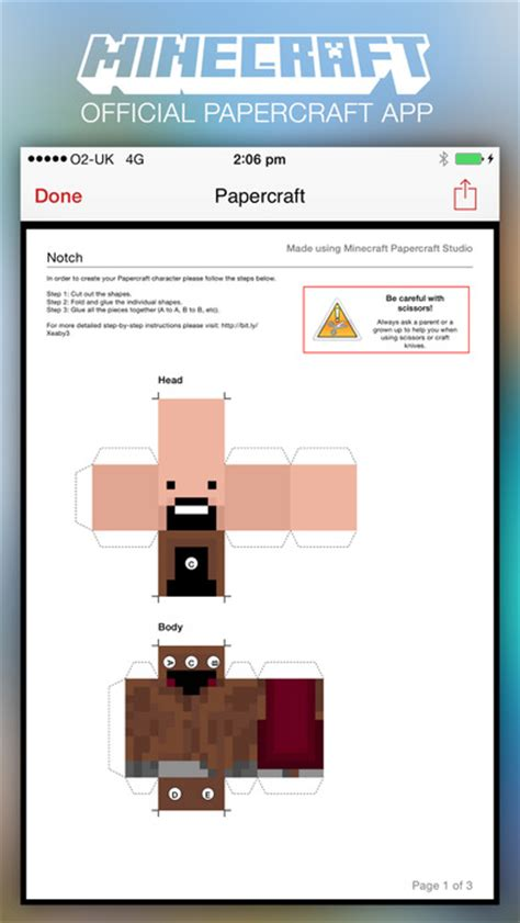Papercraft App - minecraft papercraft studio 57digital