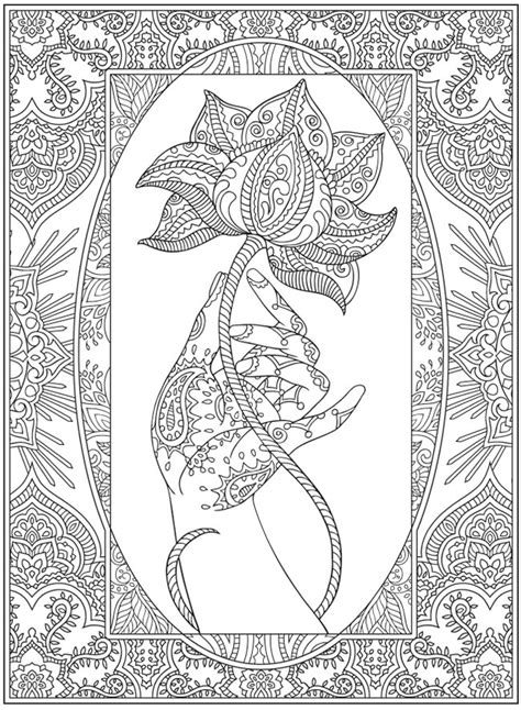 coloring pages henna art henna coloring page from dover publications http www