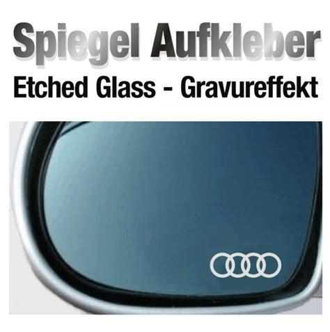 Audi Aufkleber Ebay by Spiegelaufkleber Sticker Gravureffekt F 252 R Audi Ebay