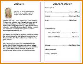 free memorial template 7 free memorial service program template itinerary