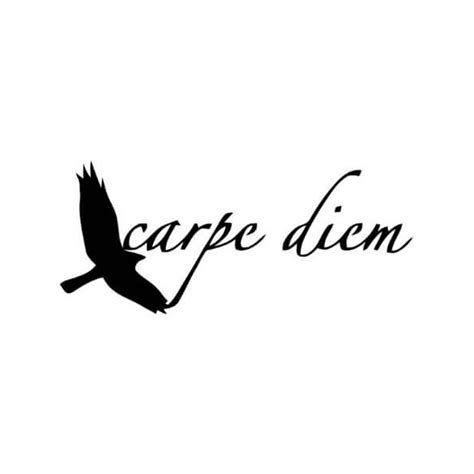 tatouage d 233 calcomanie carpe diem lettring tattoo en 5