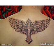 Cross With Wings Tattoo Image
