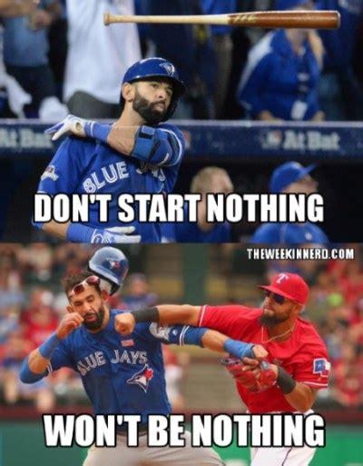Texas Rangers Meme - we memed the blue jays rangers brawl theweekinnerd com
