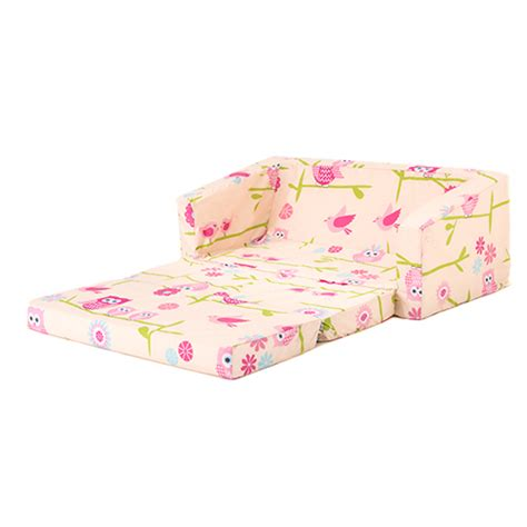 fold out sofa kids owls kids flip out lily sofa bed sleep over fold out