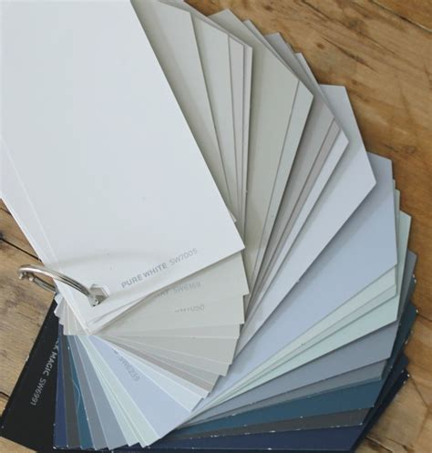 make your own sherwin williams color swatch fan deck the wicker house