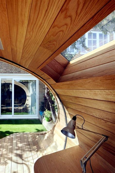 modern wooden pavilion   garden design