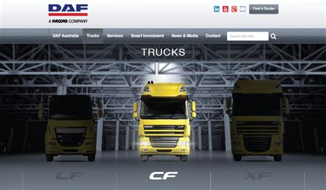 paccar australia daf australia launches new responsive website paccar