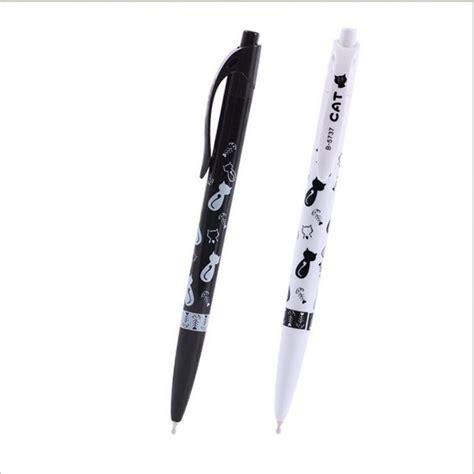 Cat Pen 0 5 Mm 2pcs set black white cat ballpoint pen kawaii 0 5mm
