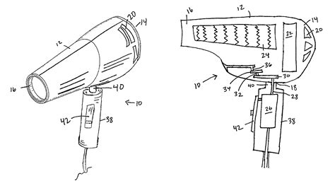 Hair Dryer Components patent us8302324 oscillating hair dryer patents