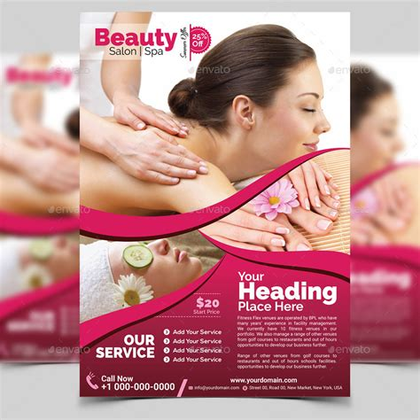 Spa Beauty Flyer Template By Aam360 Graphicriver Spa Flyer Templates Free