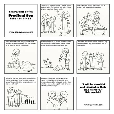 prodigal son coloring pages preschool week 73 story of forgiveness prodigal son done