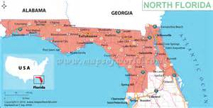 northern florida map with cities map of northern florida map of florida