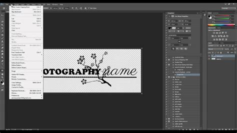 photoshop tutorial watermark logo turn your logo into a watermark brush in photoshop youtube