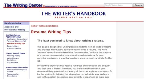 Resume Help Uw Summer On The Coast What S New With Uw Writing Center Programs Another Word