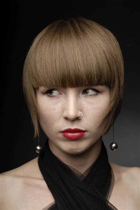 bangs that hit right at cheek bangs that accentuate cheekbones hairstyle gallery