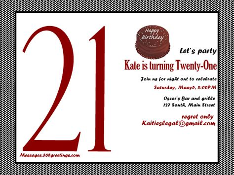 templates for 21st birthday cards 21st birthday invitations 365greetings