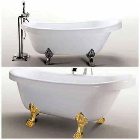 vasca piedini vasca tradizionale bagno bianco 170x80 piedini cromo oro