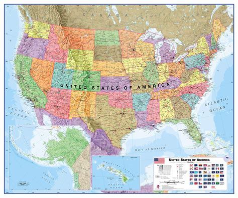blind map usa large usa wall map political roller blind system