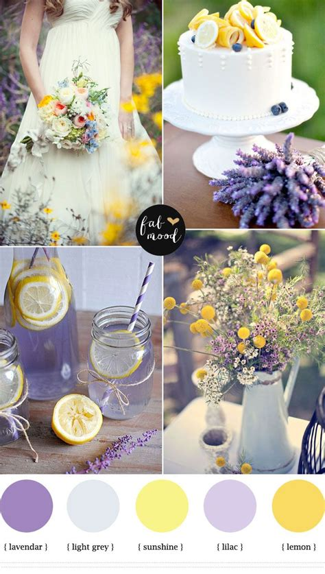 lemon lavender wedding colors wedding lavender wedding colors summer wedding colors