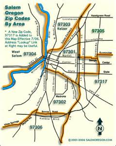 salem oregon map salem oregon zip codes map
