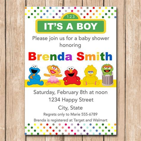 Mini Muppets Baby Shower Invitation Boy or Girl Neutral