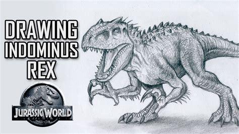 Drawing T Rex Dinosaur by Indominus Rex Vs T Rex Drawings Dinosaurs